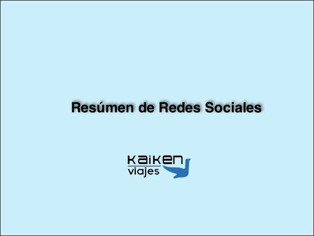 Resúmen de Redes Sociales