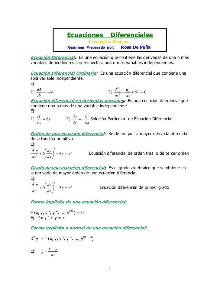 Ecuaciones                Diferenciales                                       Conceptos Básicos                         Re...