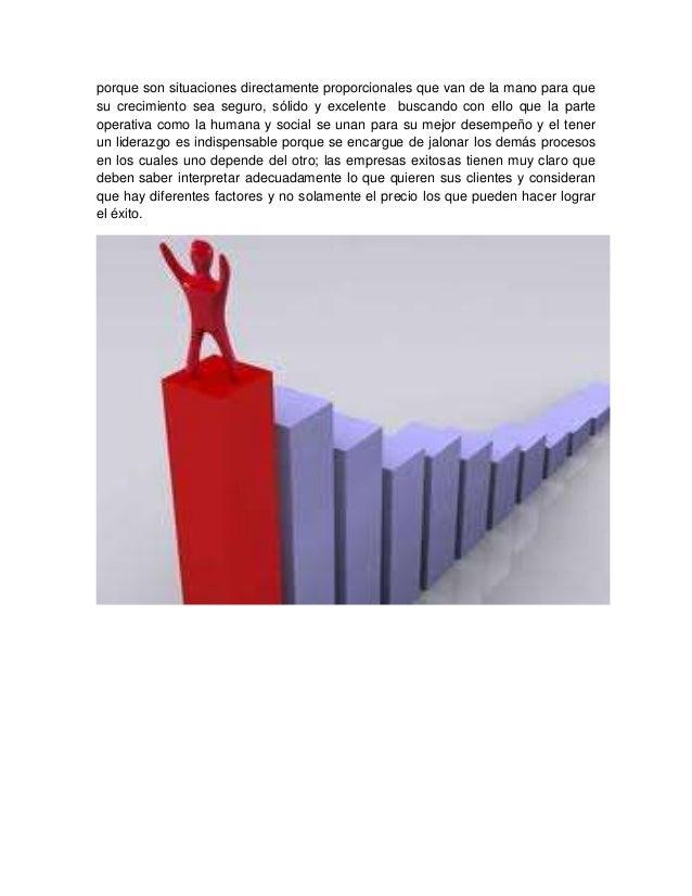 porque son situaciones directamente proporcionales que van de la mano para que su crecimiento sea seguro, sólido y excelen...