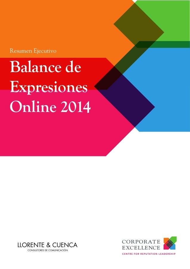 Resumen Ejecutivo Balance de Expresiones Online 2014