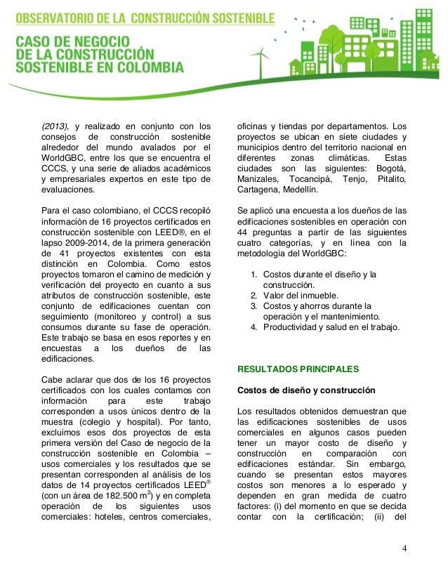 Resumen ejecutivo: Caso de Negocio para la Construcción Sostenible e…
