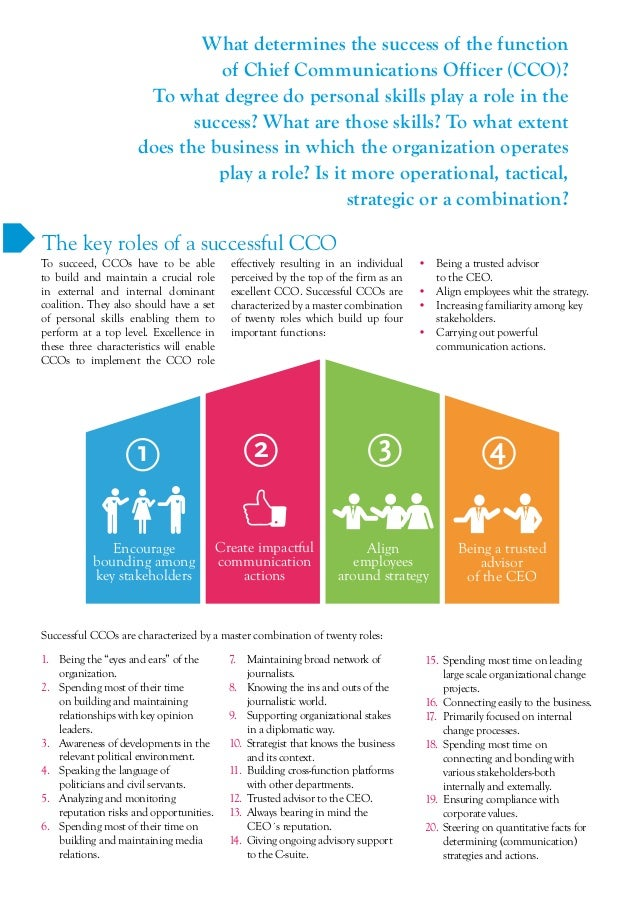 What Makes A Chief Communications Officer Excellent