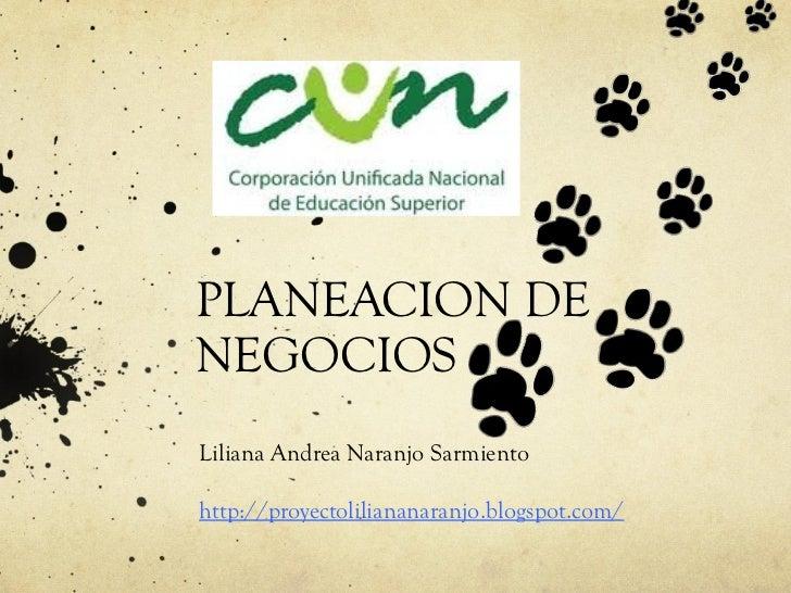 PLANEACION DENEGOCIOSLiliana Andrea Naranjo Sarmientohttp://proyectoliliananaranjo.blogspot.com/