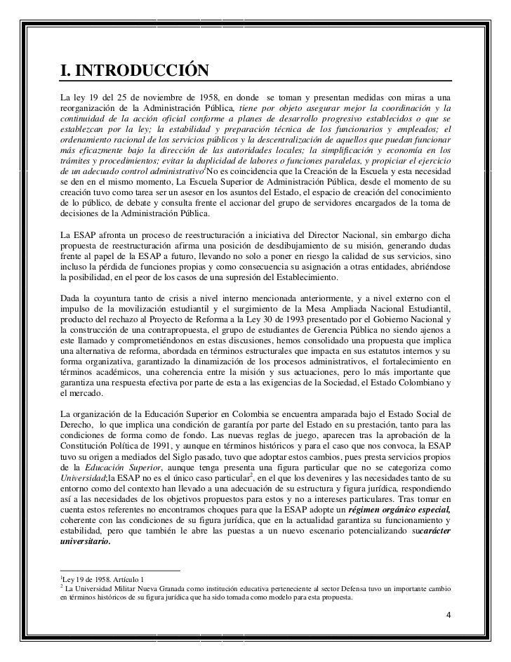 resumen ejecutivo propuesta reestructuracion