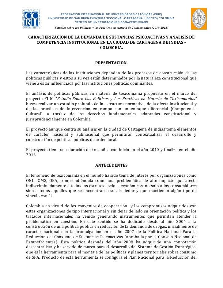 FEDERACIÒN INTERNACIONAL DE UNIVERSIDADES CATÓLICAS (FIUC)           UNIVERSIDAD DE SAN BUENAVENTURA SECCIONAL CARTAGENA (...