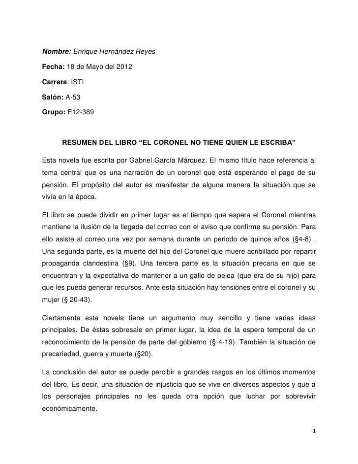 """Nombre: Enrique Hernández ReyesFecha: 18 de Mayo del 2012Carrera: ISTISalón: A-53Grupo: E12-389      RESUMEN DEL LIBRO """"EL..."""
