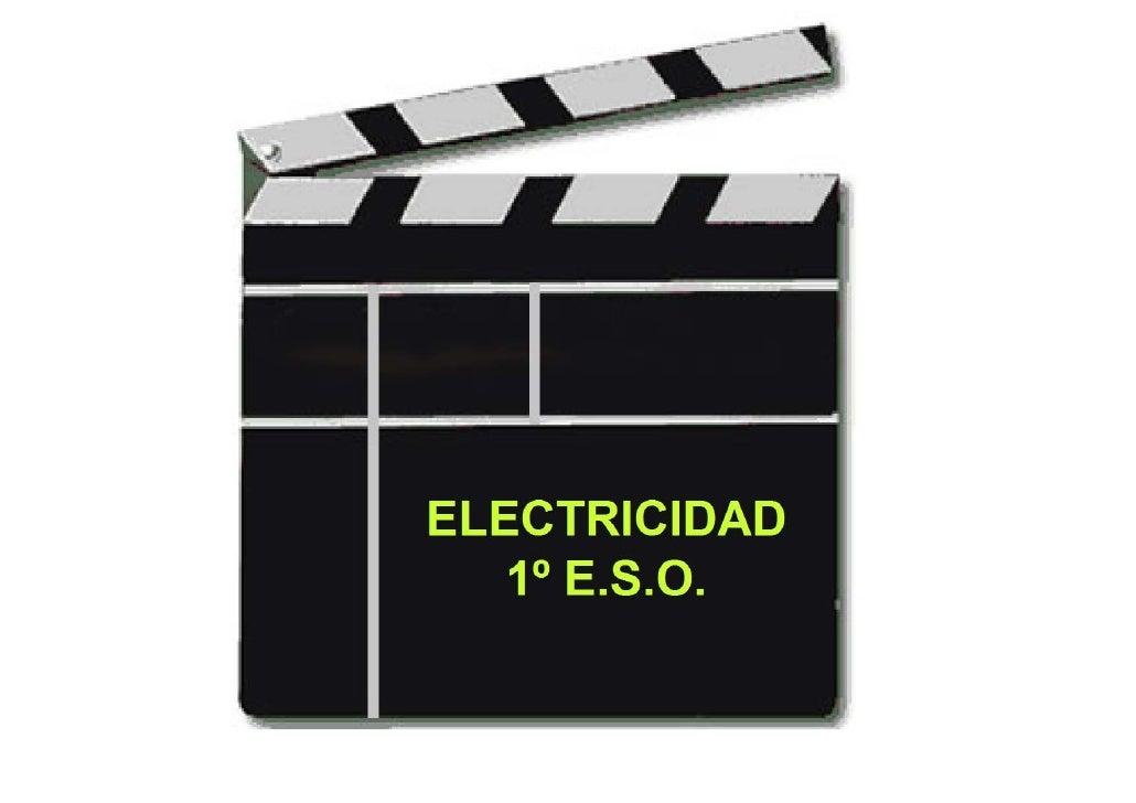 Resumen Electricidad 1eso