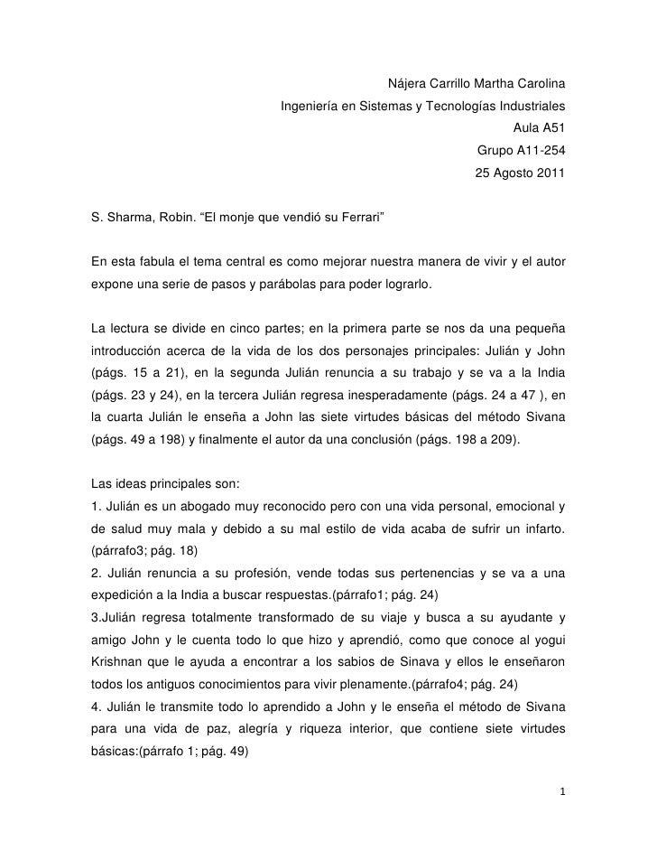 Nájera Carrillo Martha Carolina<br />Ingeniería en Sistemas y Tecnologías Industriales<br />Aula A51<br />Grupo A11-254<br...