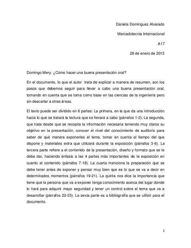 Daniela Domínguez Alvarado                                                        Mercadotecnia Internacional             ...