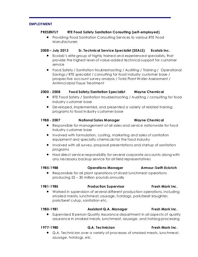 resume for self employed