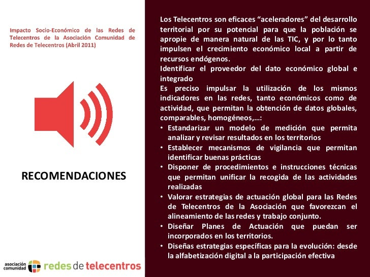 """Los Telecentros son eficaces """"aceleradores"""" del desarrollo                  territorial por su potencial para que la pobla..."""