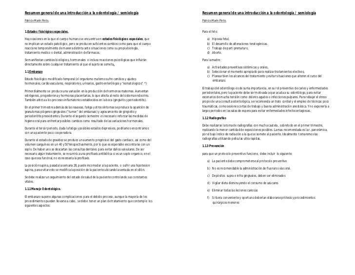 Resumen general de una introducción a la odontología / semiología                                       Resumen general de...