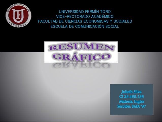 UNIVERSIDAD FERMÍN TORO VICE-RECTORADO ACADÉMICO FACULTAD DE CIENCIAS ECONOMICAS Y SOCIALES ESCUELA DE COMUNICACIÓN SOCIAL...
