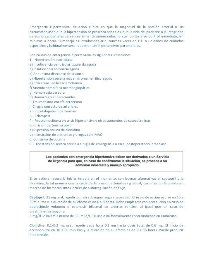 Resumen guía clinica hipertensión arterial primaria o esencial