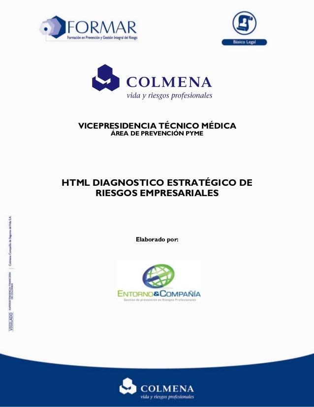 VICEPRESIDENCIA TÉCNICO MÉDICA        ÁREA DE PREVENCIÓN PYMEHTML DIAGNOSTICO ESTRATÉGICO DE     RIESGOS EMPRESARIALES    ...