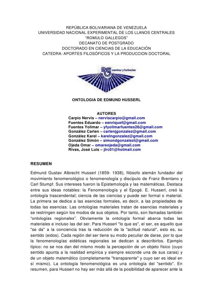 """REPÚBLICA BOLIVARIANA DE VENEZUELAUNIVERSIDAD NACIONAL EXPERIMENTAL DE LOS LLANOS CENTRALES """"ROMULO GALLEGOS""""DECANATO DE P..."""