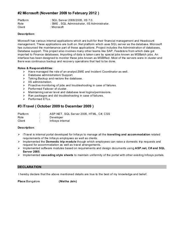 Iis admin resume