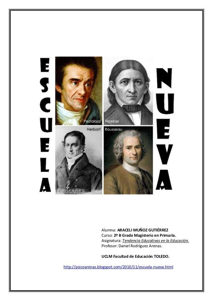 Alumna: ARACELI MUÑOZ GUTIÉRREZ<br />Curso: 2º B Grado Magisterio en Primaria.<br />Asignatura: Tendencia Educativas en la...