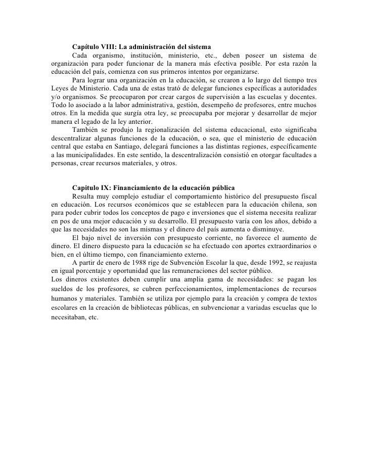 resumen la historia de la educacion chilena fredy soto 2003