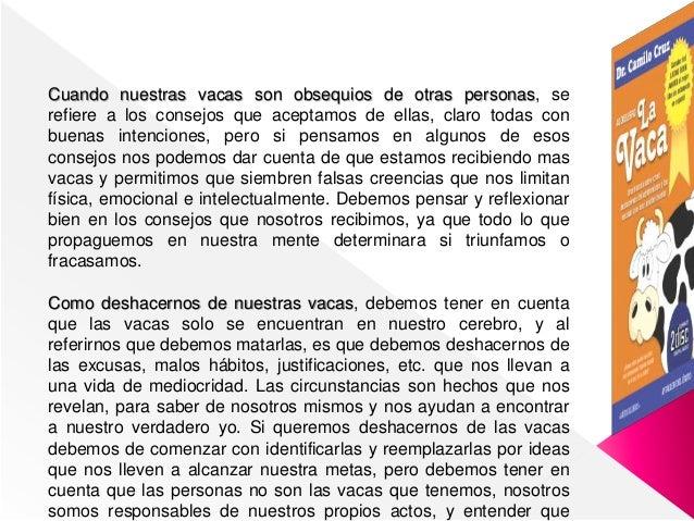 Resumen La Vaca De Dr Camilo Cruz