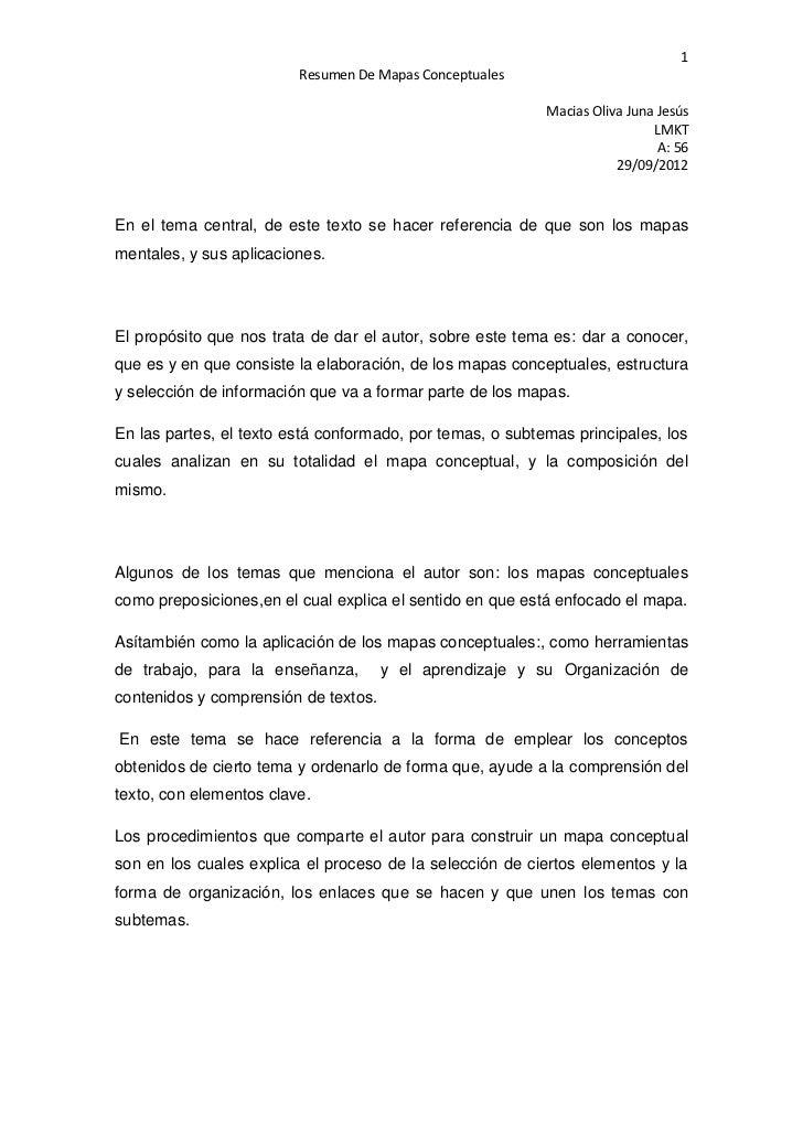 1                         Resumen De Mapas Conceptuales                                                           Macias O...