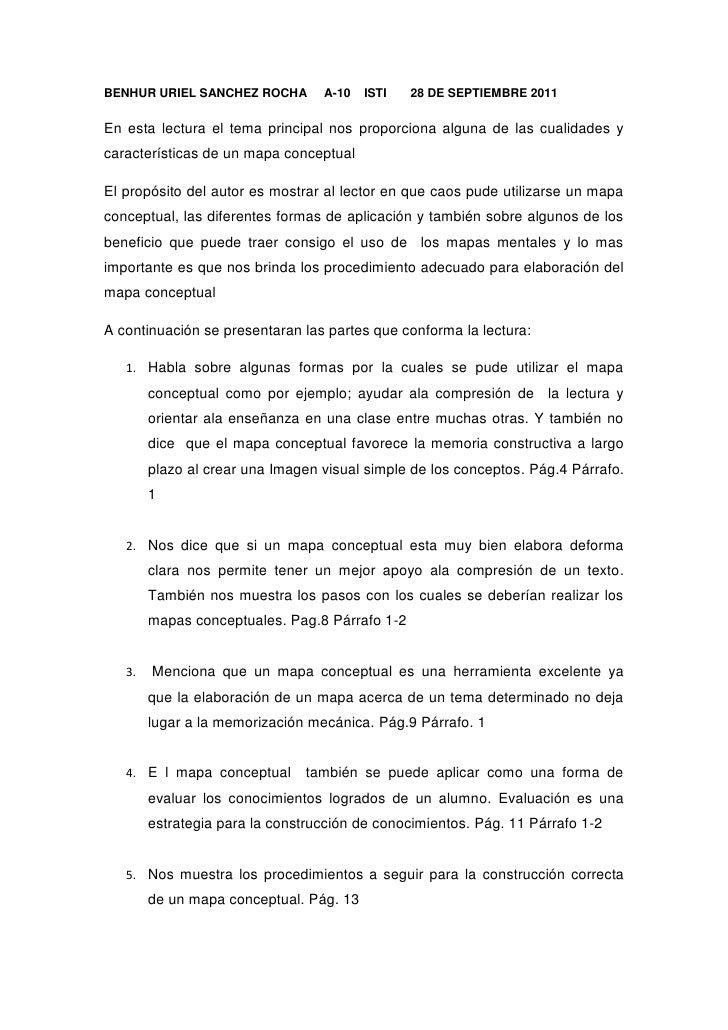 BENHUR URIEL SANCHEZ ROCHA     A-10    ISTI       28 DE SEPTIEMBRE 2011<br />En esta lectura el tema principal nos proporc...