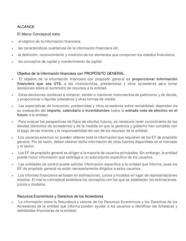Resumen marco conceptual niif