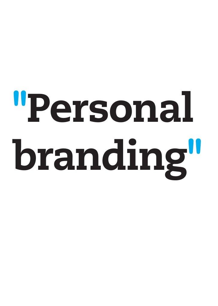 resumen quot personal branding quot