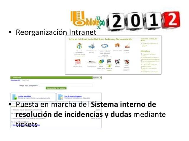 La biblioteca de la Uex en 2012 Slide 3