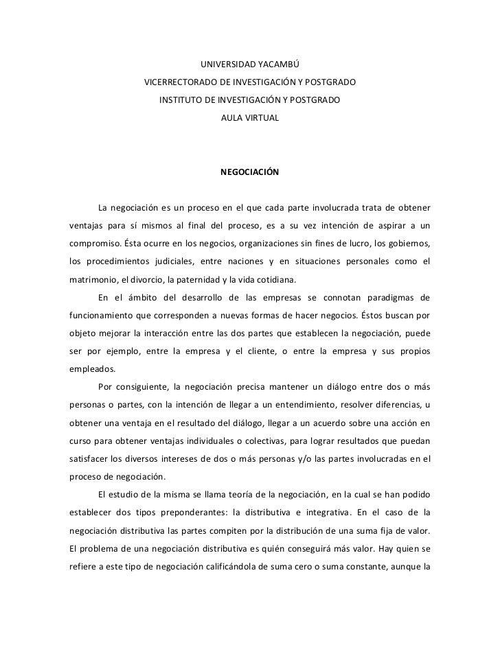 UNIVERSIDAD YACAMBÚ<br />VICERRECTORADO DE INVESTIGACIÓN Y POSTGRADO<br />INSTITUTO DE INVESTIGACIÓN Y POSTGRADO<br />AULA...