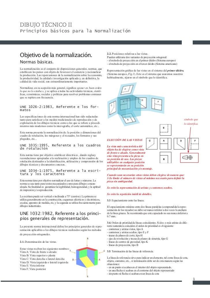DIBUJO TÉCNICO IIPrincipios básicos para la NormalizaciónObjetivo de la normalización.                                    ...