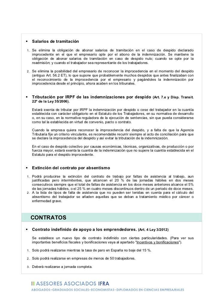 Resumen Reforma Laboral 2012 - Ley 3/2012 Slide 3