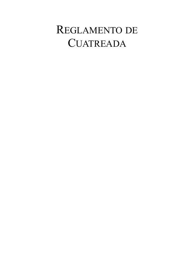 REGLAMENTO DE CUATREADA
