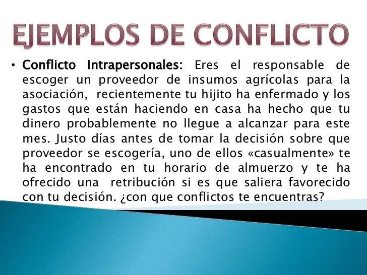 Ejemplo De Conflicto Intergrupal En Una Empresa Opciones De Ejemplo
