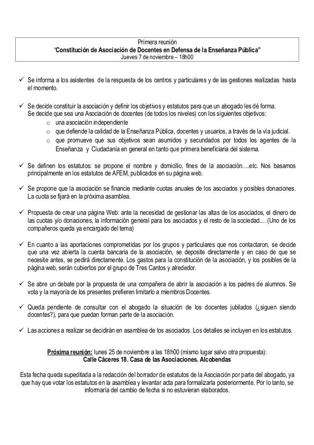 """Primera reunión """"Constitución de Asociación de Docentes en Defensa de la Enseñanza Pública"""" Jueves 7 de noviembre – 18h00 ..."""