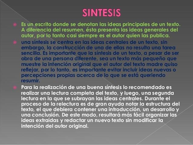 resumen sintesis ensayo