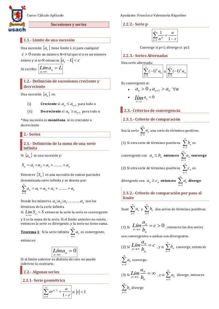 Curso: Cálculo Aplicado                                       Ayudante: Francisco Valenzuela Riquelme                     ...