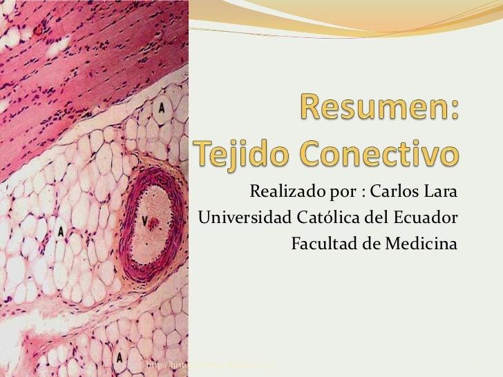 Realizado por : Carlos Lara             Universidad Católica del Ecuador                        Facultad de Medicinahttp:/...