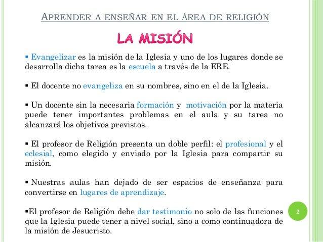 Aprender A Enseñar En El área De Religión