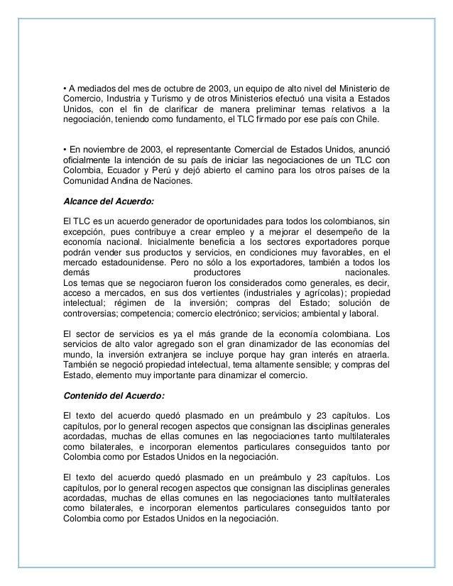 Resumen TLC Colombia- EEUU Slide 2