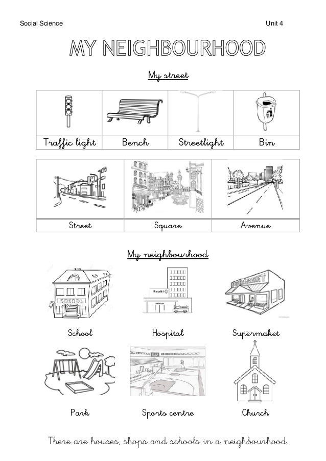 resumen unit 4 neighbourhood social science