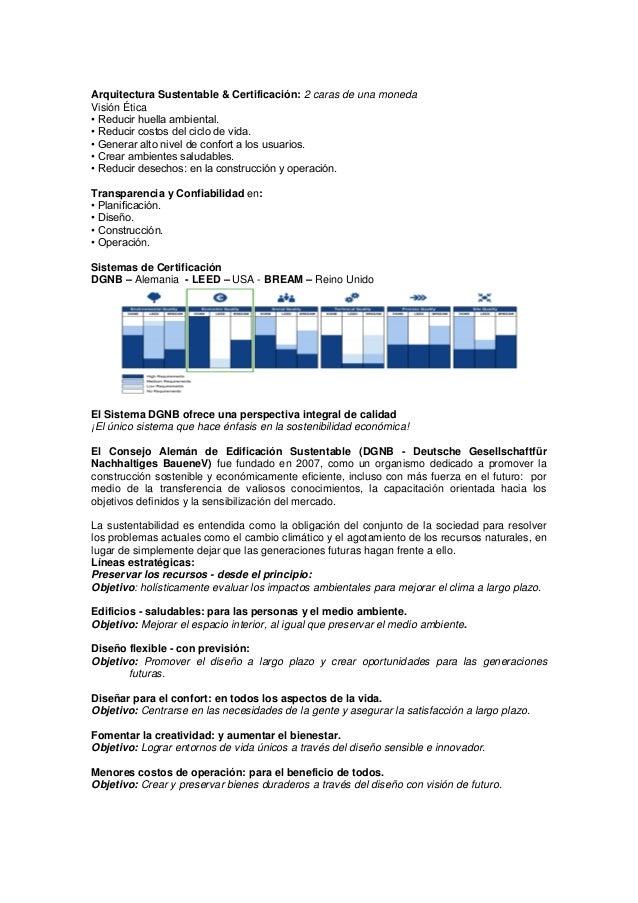 resumen ejecutivo edificación sustentable modelos de certificació