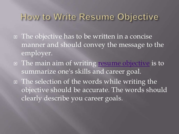 3 how to write resume objective