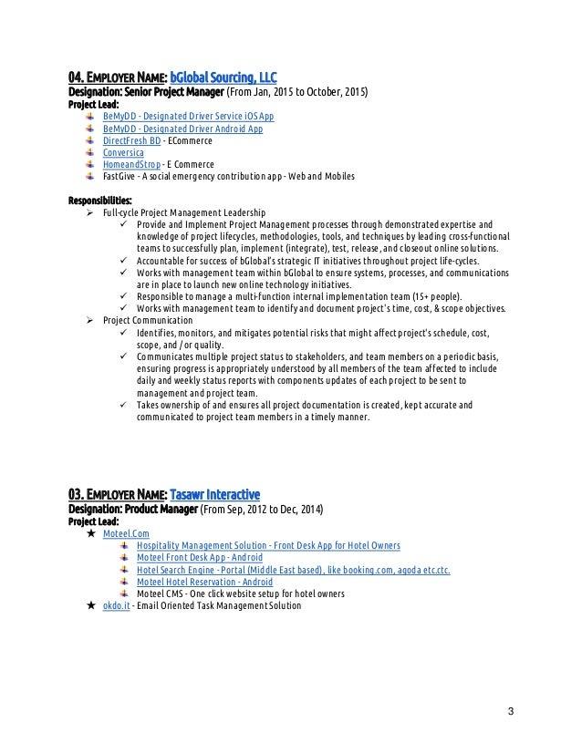 Resume Of Anwar Kabir