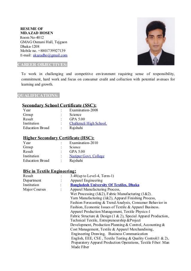 resume of azad