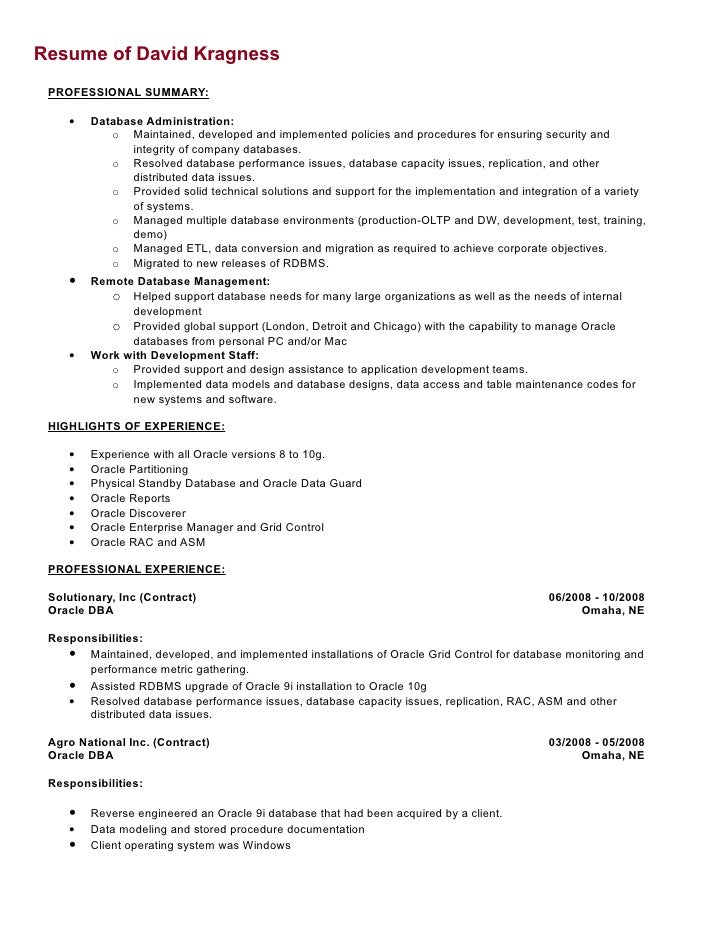 chicago discoverer oracle resume