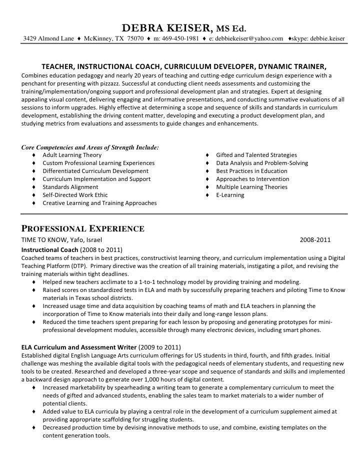 Resume Of Debra Keiser For Linked In