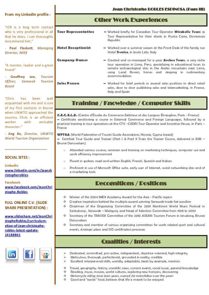 fluent english french resume