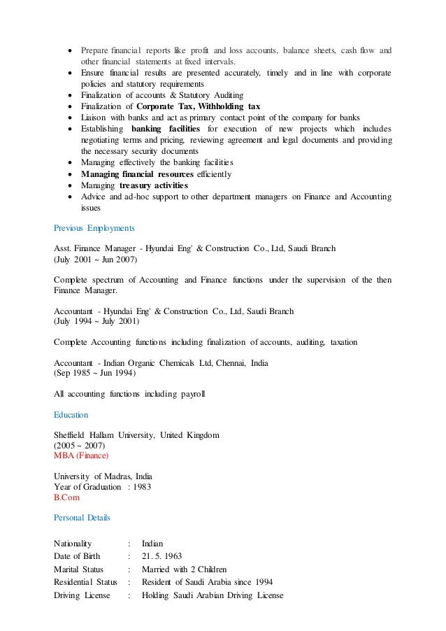 Funky Account Resume In Saudi Arabia Images - Best Resume Examples ...
