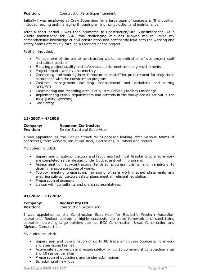 resume of ken hagan 1